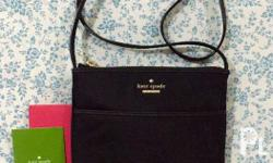 Brand New Authentic Kate Spade Black Nylon Sling with