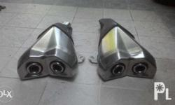 Stock Kawasaki Twin exhaust taken from Z1000 Stainless