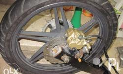Complete disc-brake for kawasaki zx130 with fork wheel