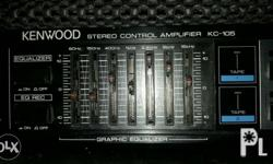 Kenwood stereo control amplifier Model kc-105 110v