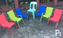 Multicolored kiddie garden chairs Price: P850 per