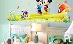 Kiddie Wall Stickers Mickey & Minnie Mouse Pooh Frozen