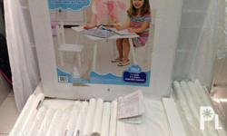 Kids 3 Piece Table and Chair Set white meet up possible