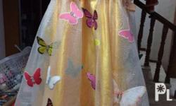 Butterfly gown For 3-5 years old 1x used Original price