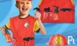 Kids Career Costume Fireman For ages: 3 to 8 years old