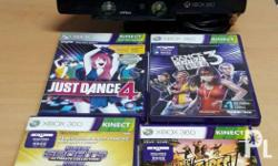 Kinect and games for Xbox 360 *sold as bundle