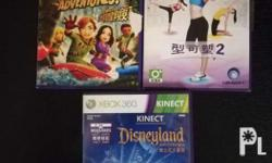 Selling these three Kinect Games for Xbox 360. All are