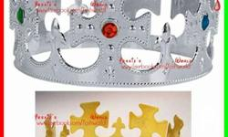made of plastic little crown- 10each queen crown-