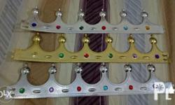 King crown gold and silver available. 6 pcs available 2