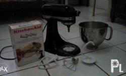 Color black Artisan w/ kitchen aid pasta maker Good