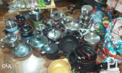 we have plenty fry pans, blanket, curtains, etc from