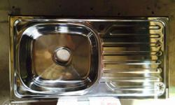 Kitchen Sink Stainless single bowl with drain board