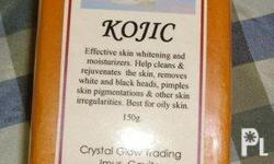 Kojic soap cleanses skin and helps eliminate pimples,