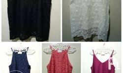 Lace blouse fits to small medium size.