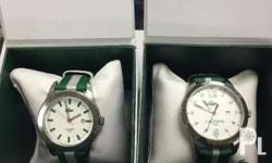 slightly used His and Hers watch With box and papers