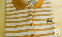 Original lacoste womens polo shirt. Will fit to small