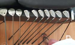 Used ladies golf set. 6-11 Honma irons; SW, putter and