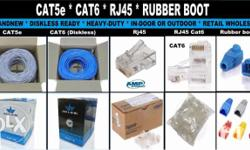 Lan Cable Cat5e Cat6 Rj45 Rubberboot Crimping tools and