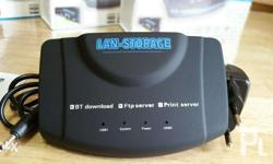 Lan Server for NAS and Network Printer This USB network