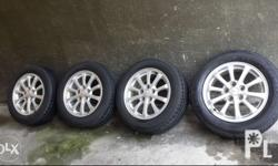 Lancer Ex 16s 5holes 114pcd with dunlop tires 205/60/16