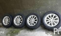 Lancer Ex tires and mags 16s 5holes 114pcd with dunlop