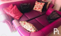3 seater & 2-seater leather couch for sale. For pick-up