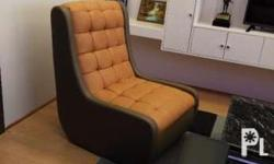 Leather Contemporary Chair can be customized to the