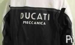 Brand New Leather Ducati Meccanica Jacket Size 58 Never