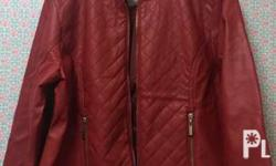 Leather jacket Red pre loved (used once only) in