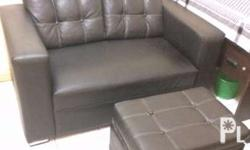 Pre loved leather sofa with ottoman