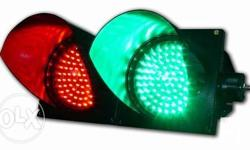 100mm traffic lights in red+green color, PC