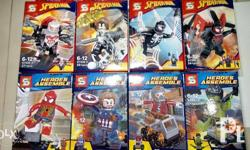 Assorted brand Minifigs and Big Figs of Marvel, DC