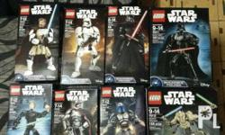 Lego Starwars buildable figures brand new and still