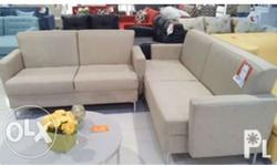 Light Brown Sala Set (1 two seater and 1 three seater,