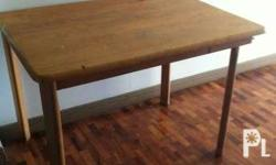Light brown dining table