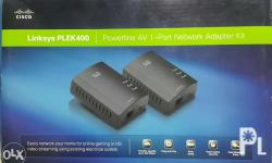 Linksys PLEK400 Powerline AV 1-Port Network Adapter