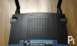 Linksys wireless router g 2.4 Ghz 54 mbps 4 port