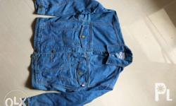 LINSON Jean Jacket, Blue Denim Jacket, 100% Cotton