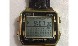 This is a lotto watch. You can play lotto with this