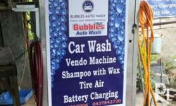 kindly read pls Carwash with shampoo, tire air