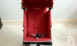 All Aluminum body, reclinable, lightweight stroller