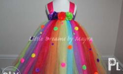 Made to order tutu dress for Birthday, Baptismal and