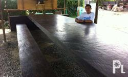 Table top for dining table, magkono wood or iron wood,