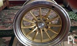 """Advan racing mags Size 15"""" Color Center gold with"""