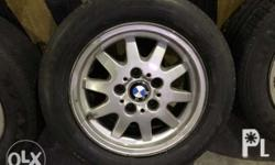 Bmw mags 15 205/60/15 5/120pcd Good tire 70 to 80