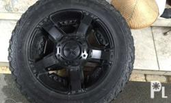"""Rim 20"""" xd series with mickey thompson tire for ford"""
