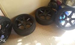 for sale only 17s volk rays mags 205/40ZR17 4holes