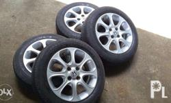 """4 stock Honda tires 15"""" mags No damages Slightly used"""