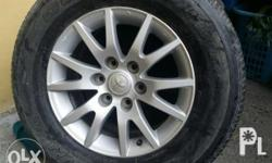 Stock mags and tires for fortuner sports...4 pcs Txt or