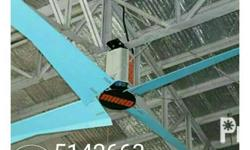 hvls fan mako brand from 2.5 to 7.5 meters european